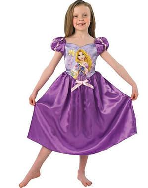 Bir kız için Rapunzel peri masalı kostümü