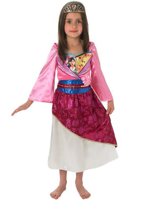 Strój Mulan błyszcący dla dziewczynki