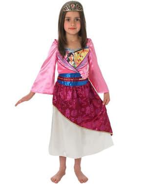 女の子のための光沢のあるムーラン衣装