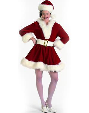 Sexy Weihnachtsfrau Kostüm für Damen Deluxe