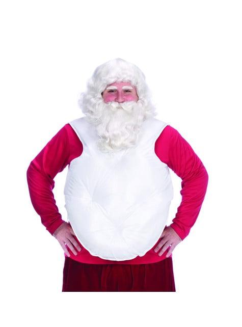 Sztuczny brzuch Święty Mikołaj biały