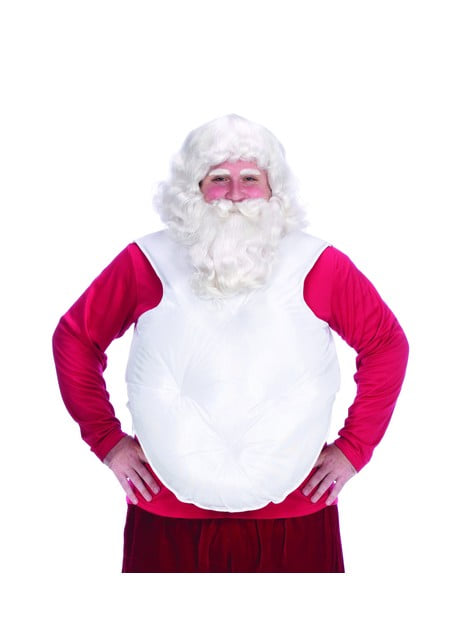 White false Father Christmas belly