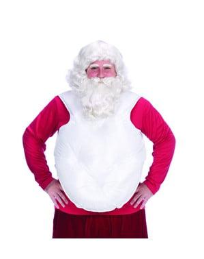 Hvit Falsk Julenisse Mage