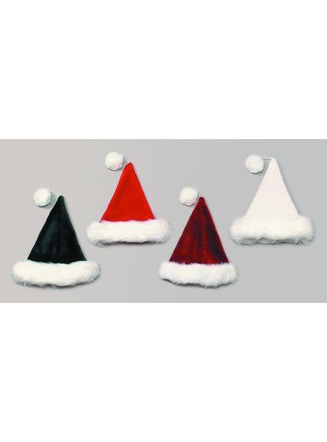 Gorro de Papá Noel borgoña