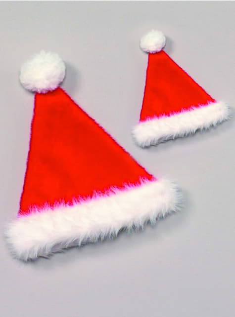 Burgundy Father Christmas hat for an adult