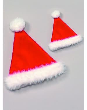 Burgundinvärinen joulupukin hattu aikuisille