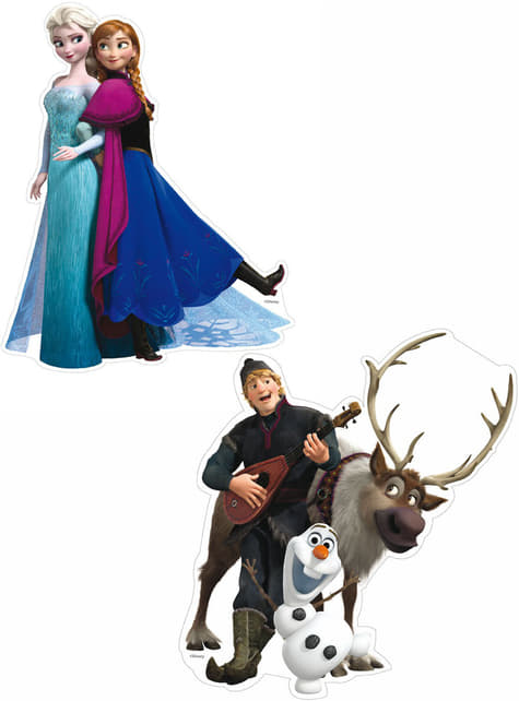 Set de mini figurines personnages La reine des Neiges