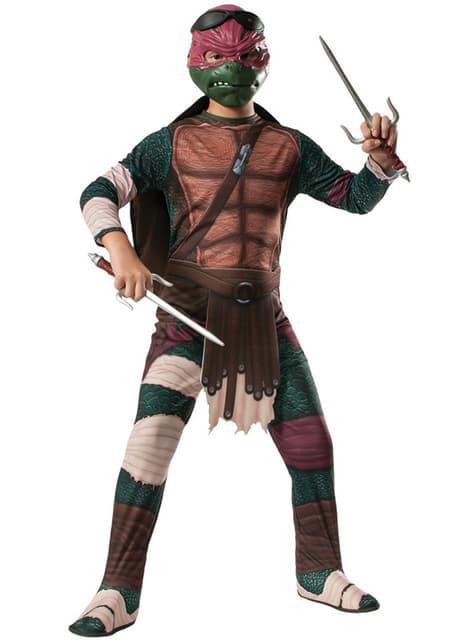 Fato de Raphael Tartarugas Ninja Filme para menino