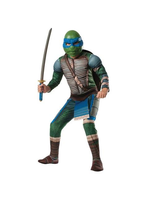 Leonardo Krieger Kostüm für Kinder mit Muskeln Ninja Turtles