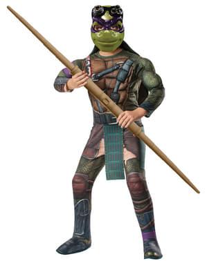 Donatello Kostüm mit Muskeln für Jungen Ninja Turtles TMNT Film