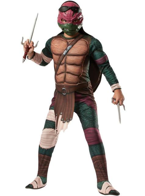 Disfraz de Raphael musculoso Tortugas Ninja Movie para niño