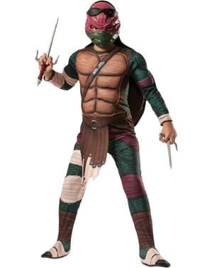 Raphael Krieger Kostüm für Kinder mit Muskeln Ninja Turtles