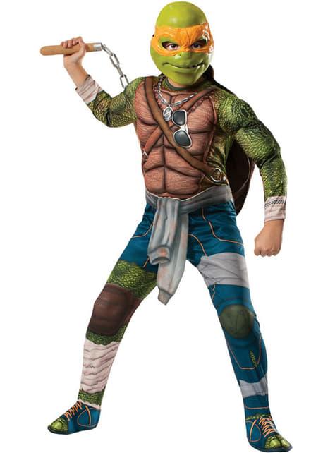 Disfraz de Michelangelo musculoso Tortugas Ninja Movie para niño