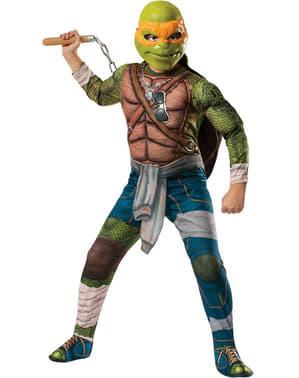 Fato de Michelangelo musculoso Tartarugas Ninja Filme para menino