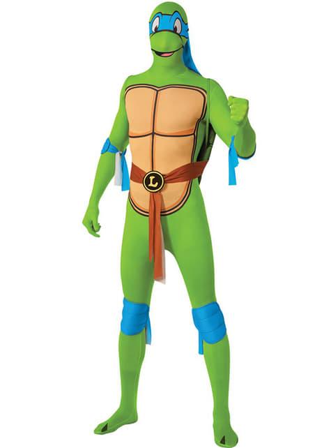 לאונרדו Ninja Turtles תחפושת עור שני