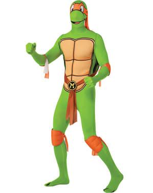 Michelangelo Ninja Turtles ihonmyötäinen asu