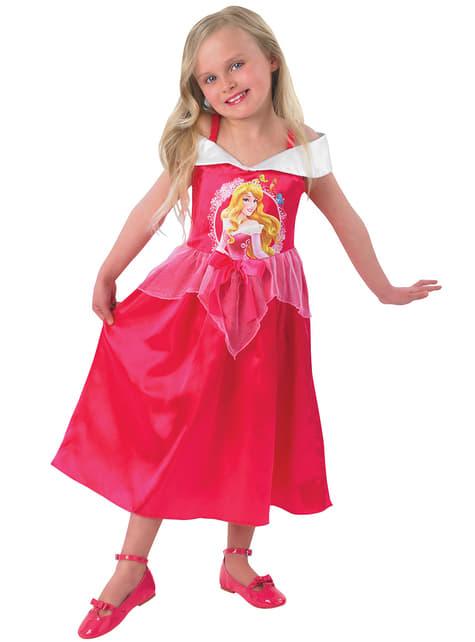 Aurora fairytale costume for a girl