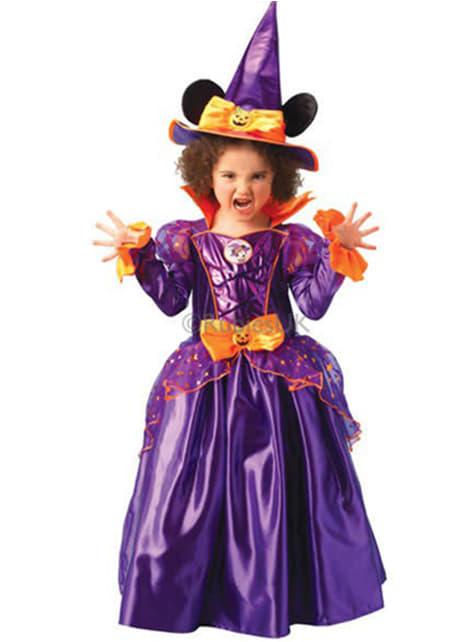 Disfraz de Minnie Mouse Bruja Platinum - niña