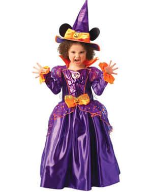 Fato de Minnie Mouse Bruxa Platinum