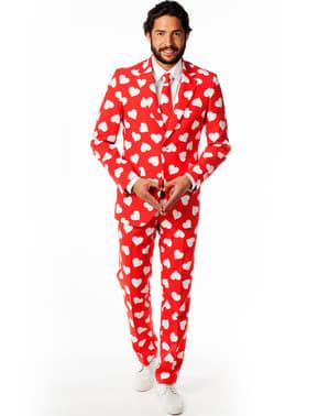 Costum barbați Roșu cu inimi