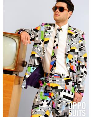 חליפה אלגנטית מצחיקה שקופית טלוויזיה