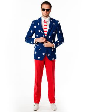 Originální oblek Opposuit motiv USA