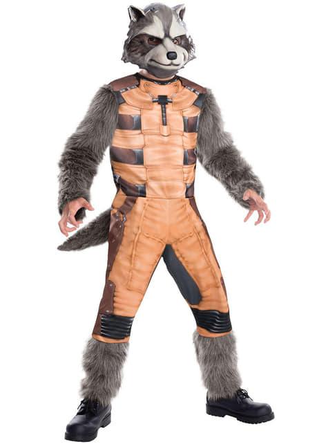 Fato de Rocket Raccoon deluxe para homem
