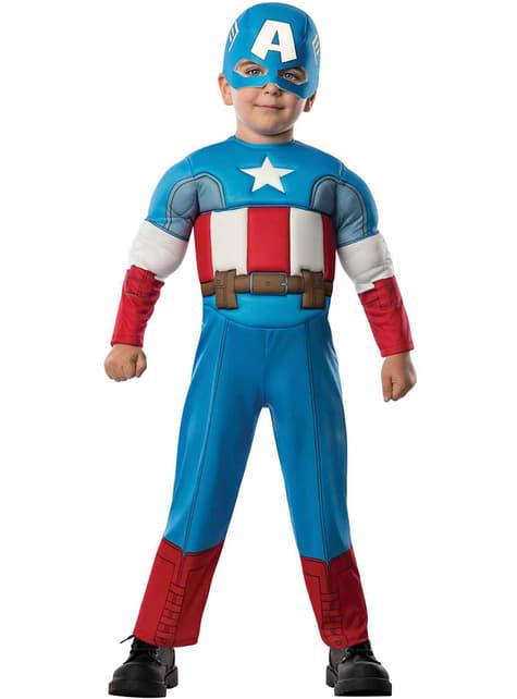 キャプテンアメリカアベンジャーズ幼児のための衣装を組み立てる