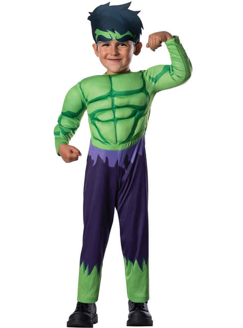 Hulk Avengers Assemble costume for a toddler