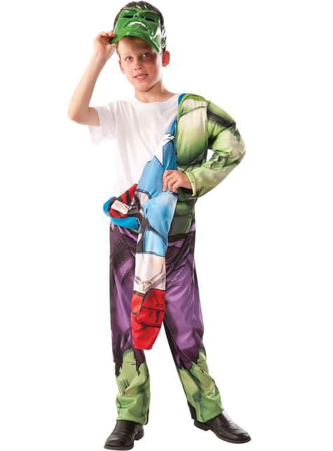 Fato de Hulk - Capitão América reversível para menino