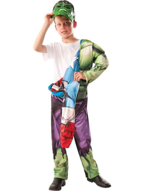 Hulk reversible costume for a boy -  Captain America