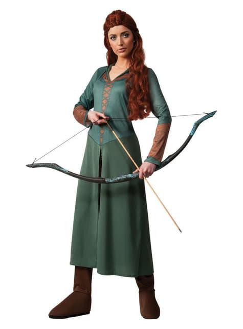 Tauriel The Hobbit女性のためのSmaugコスチュームの荒廃