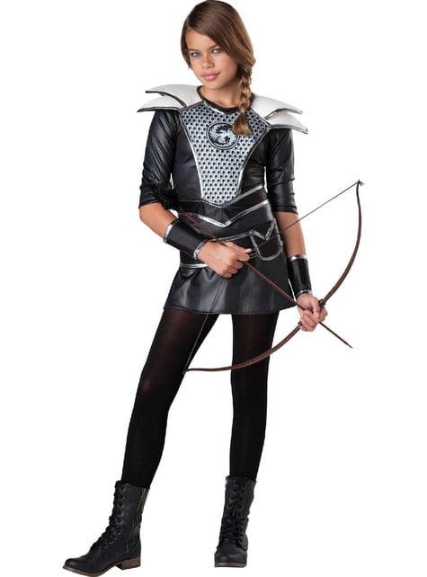 Katniss-metsästäjätär-asu teini-ikäisille