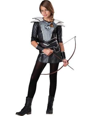 Jägerin Katniss Kostüm für Jungendliche