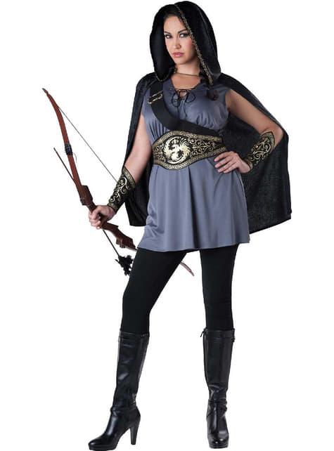 Iso Katniss plus size asu naiselle