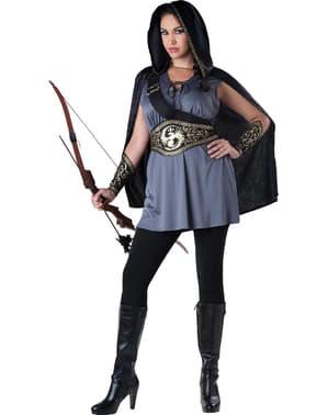 Fato de Caçadora Katniss para mulher tamanho grande