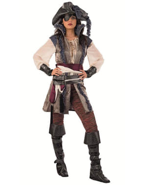 Déguisement de pirate corsaire haut de gamme pour femme