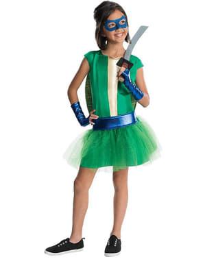 Leonardo Ninja Turtles Deluxe Kostyme for Jente