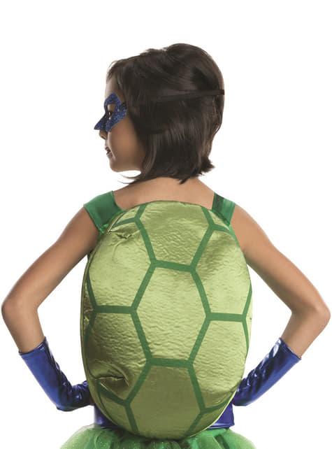 Disfraz de Leonardo Tortugas ninja deluxe para niña - niña