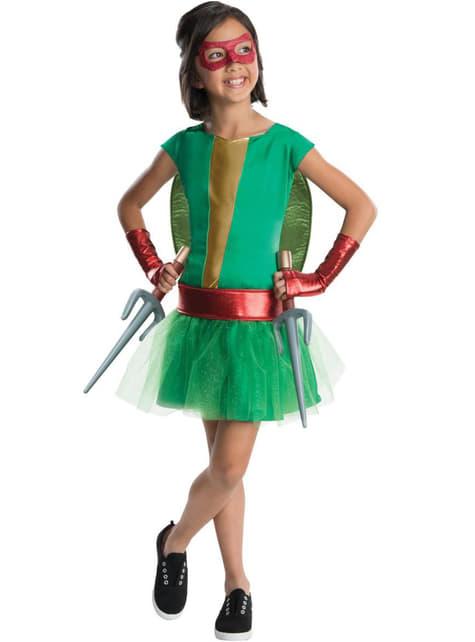 Raphael Ninja Turtles deluxe costume for a girl