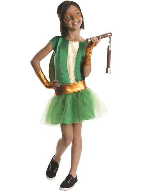 Michelangelo Ninja Turtles deluxe Kostuum voor meisjes