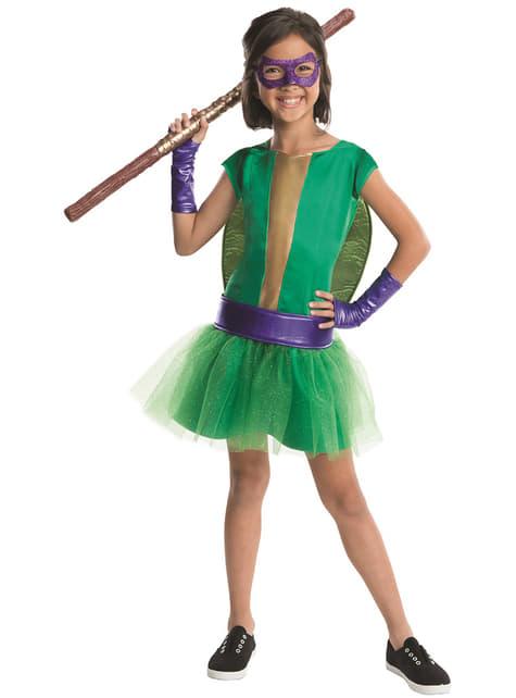 Donatello Ninja Turtles deluxe costume for a girl