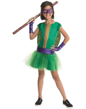 Donatello Ninja Turtles deluxe Kostuum voor meisjes