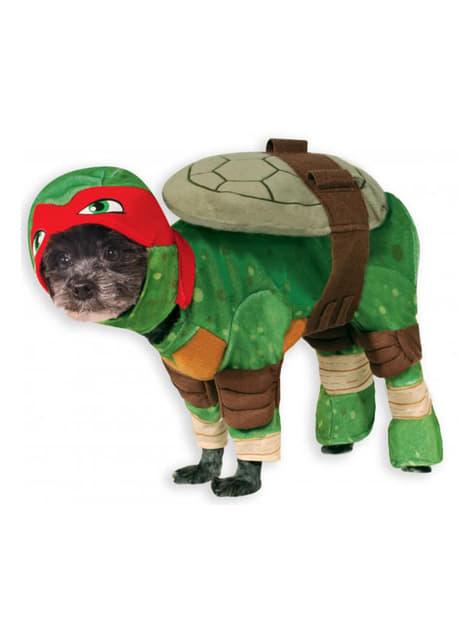 犬のためのラファエル忍者タートルズ衣装