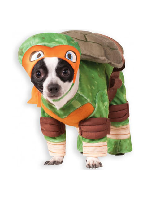 Michelangelo Ninja Turtles costume for a dog