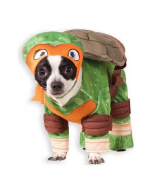 Michelangelo Ninja Turles Kostyme Hund
