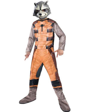 Fato de Raccoon Guardiões da Galáxia classic para menino