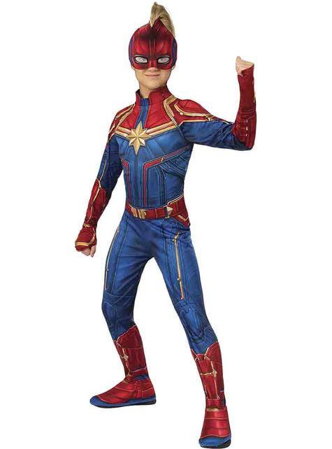 Maskeraddräkt Captain Marvel barn