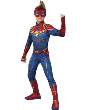Kapteeni Marvel -asu tytöille