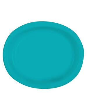 8 aquamarine oval trays - Basic Colours Line
